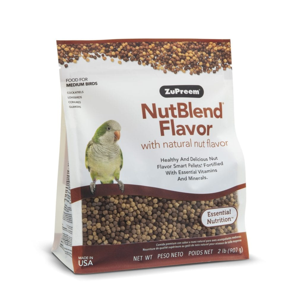 Nut Flavored Pellet Bird Food for Cockatiels, Small Conures, lovebirds, Quakers