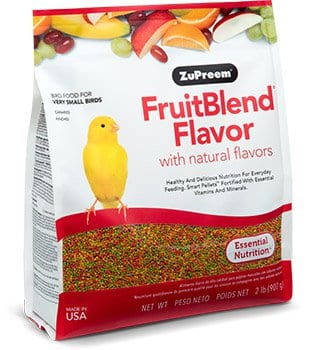 Fruit-flavored Pellet Bird Food for Canaries, Finches and other very small birds