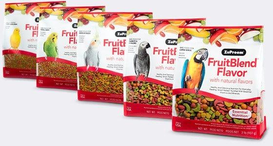 Pellet Bird Food with Fruit Flavors