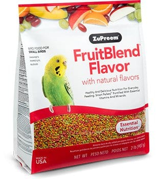 Natural Flavored Pellet Bird food for Parakeets, Budgies and Parrotlets