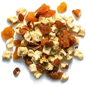 Bird Treats with Pistachios, Apples, Apricots and Almonds for Cockatiels, Quakers and Lovebirds