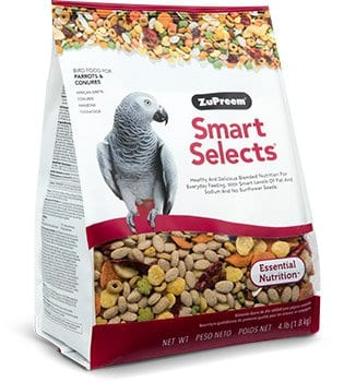 Pellet Bird Food with Smart Level of Fat for Conures, Caiques, African Greys, Senegals, Amazons, Eclectus, Small Cockatoos