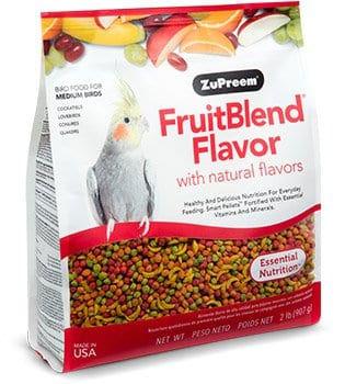 Fruit-flavored Pellet Bird Food for Cockatiels, Quakers, Lovebirds and Small Conures