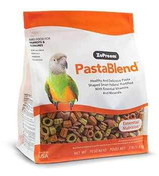 Pasta Shape Pellet Bird Food for African greys, Cockatoos, Amazons, Senegals and other Parrots