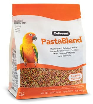 Pasta Shape Pellet Bird Food for Cockatiels, Small Conures, lovebirds, Quakers
