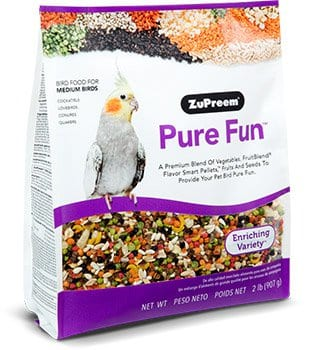 Fruits, Vegetables and Seed Blended Bird Food for Cockatiels, Quakers, Lovebirds, Small Conures