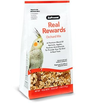 Orchard Mix Bird Treats for Cockatiels, Quakers and Lovebirds